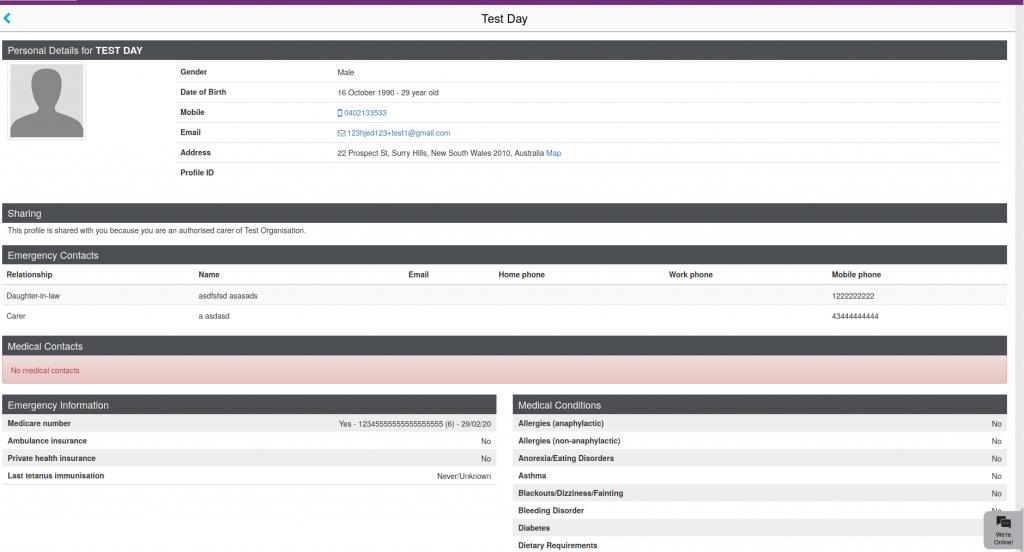 Screenshot of Caremonkey profile