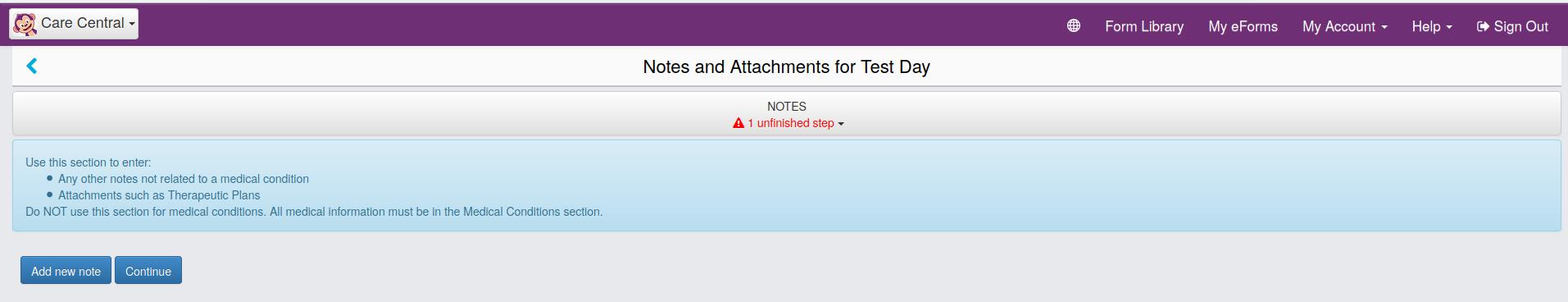 Notes Screenshot