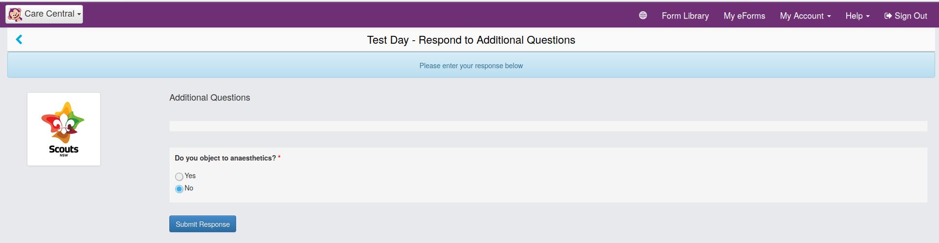 Screenshot Additional Questions